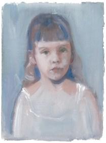 Little Molly, oil on paper, 18x14cm, 2014
