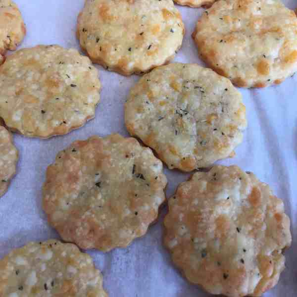 Rosemary and Cheddar Crackers