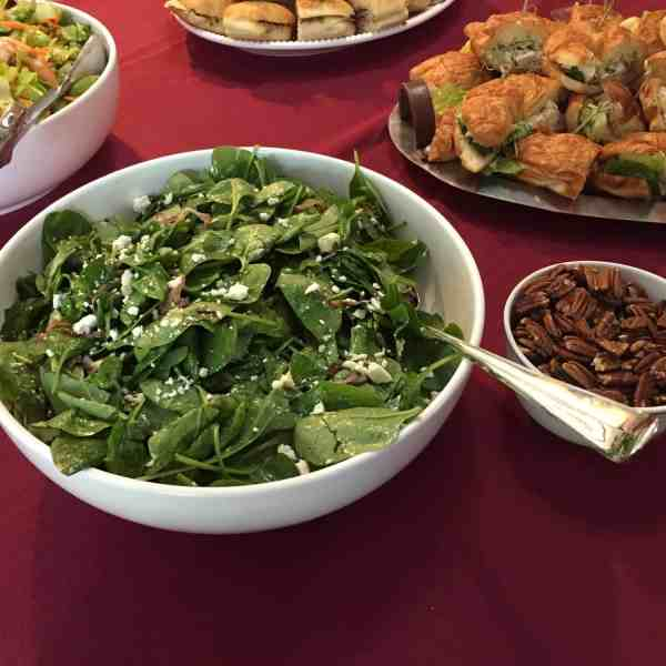 Spinach Salad with Roasted Red Onion