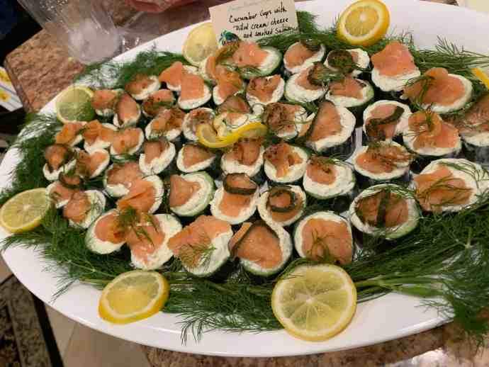 Appetizer, smoked salmon