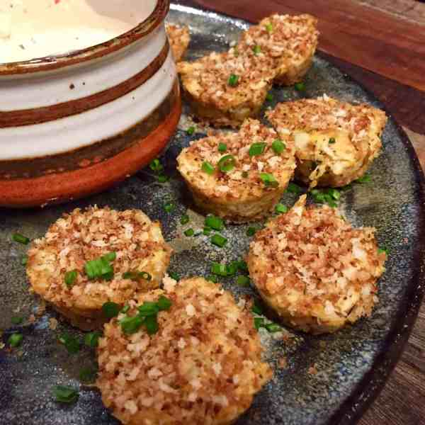 Mini Crab Cakes with Lemon Chive Aioli