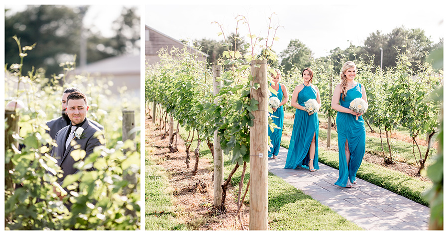 fun summer wedding in the vineyards at tomasello winery