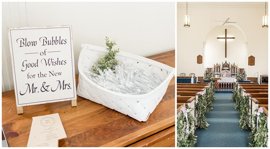 inside the chapel of Sharptown church