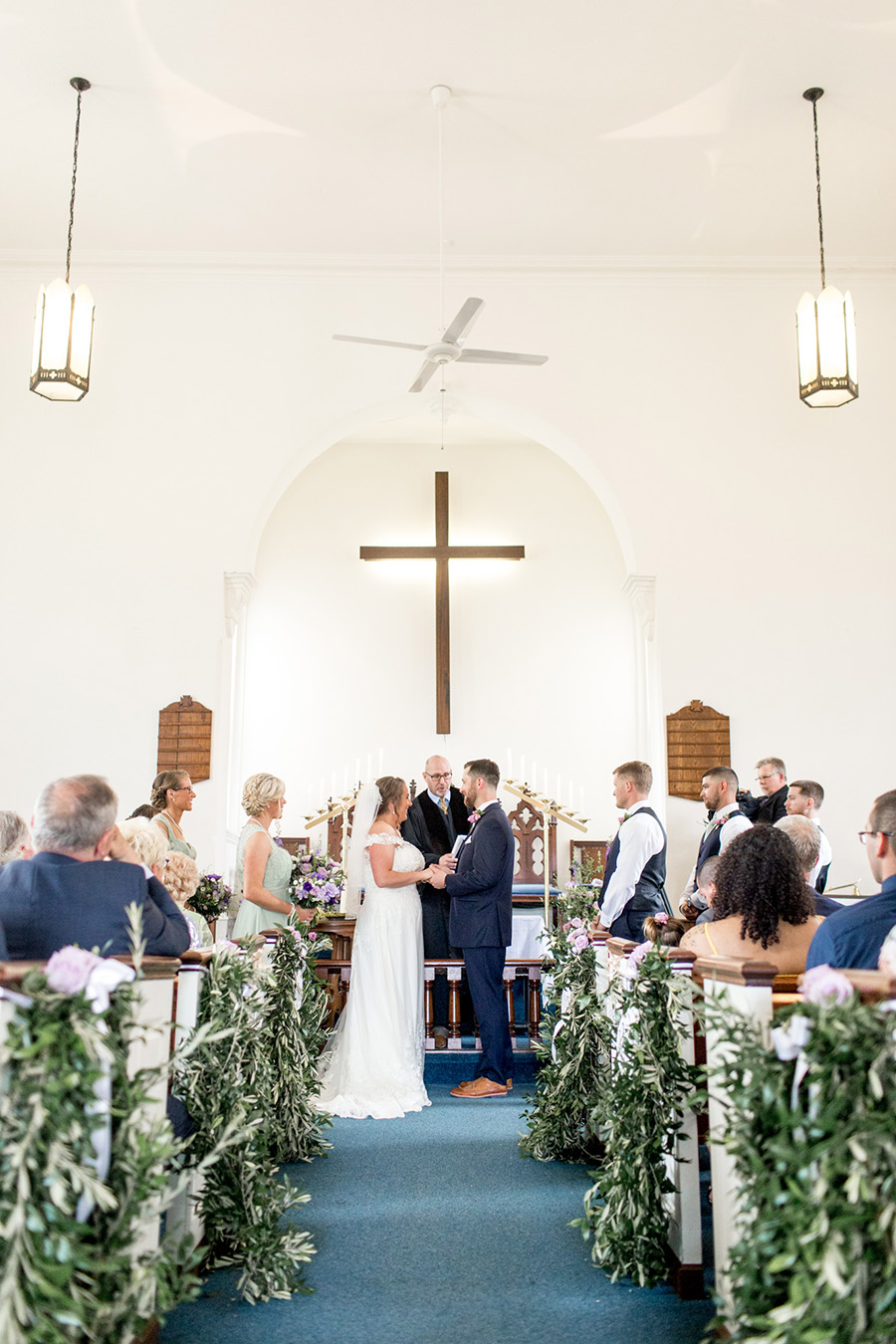 south jersey church wedding ceremony at Sharptown church