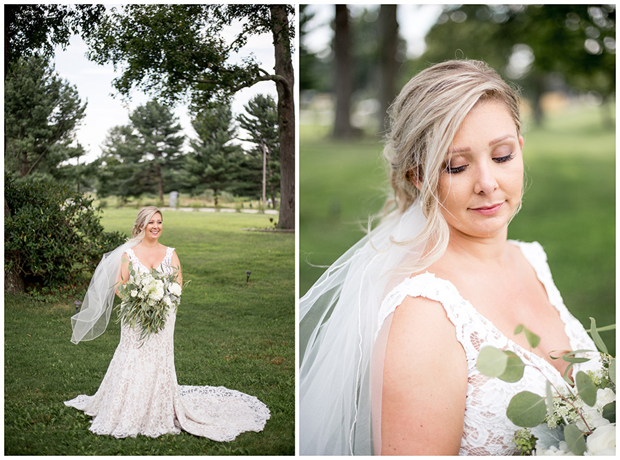 bride on the grounds of this south jersey venue by the delaware river