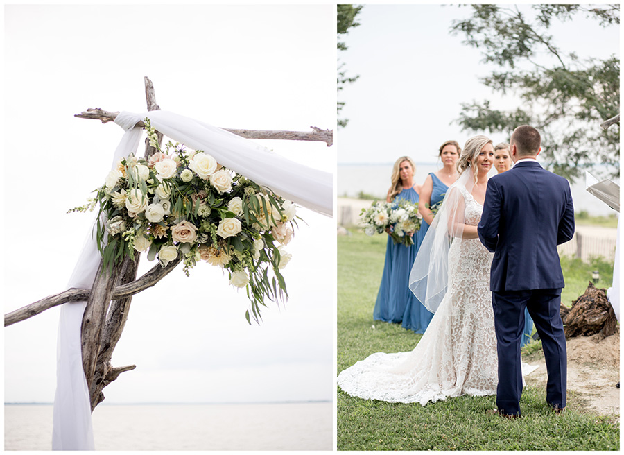 waterfront outdoor wedding ceremony in south jersey