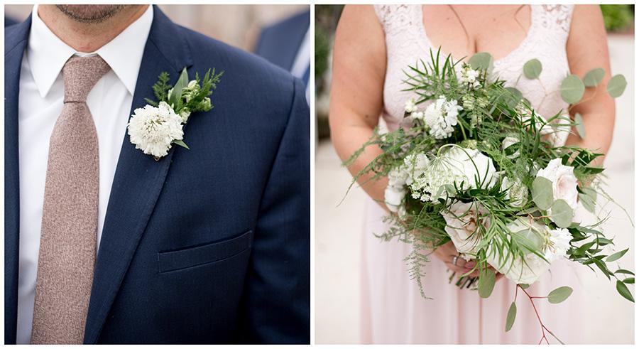 natural wedding flowers at the garden center