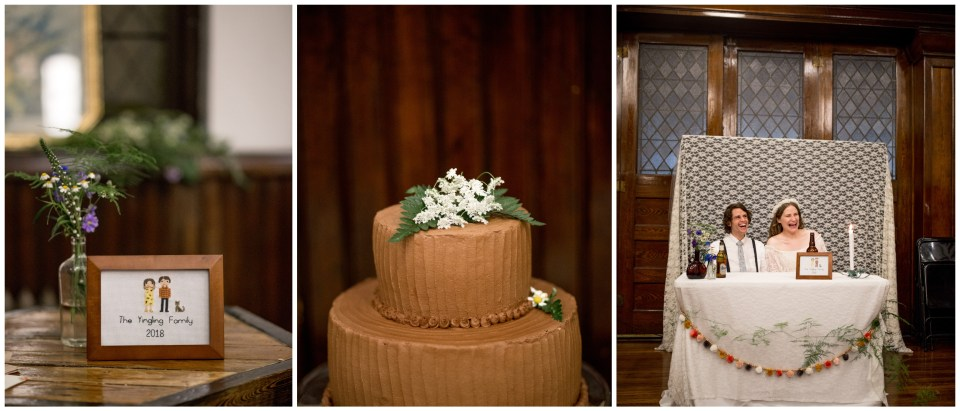 simple wedding cake and details