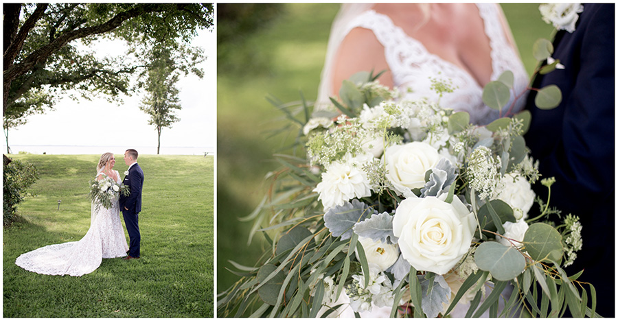 neutral wedding bouquet by savannah's garden