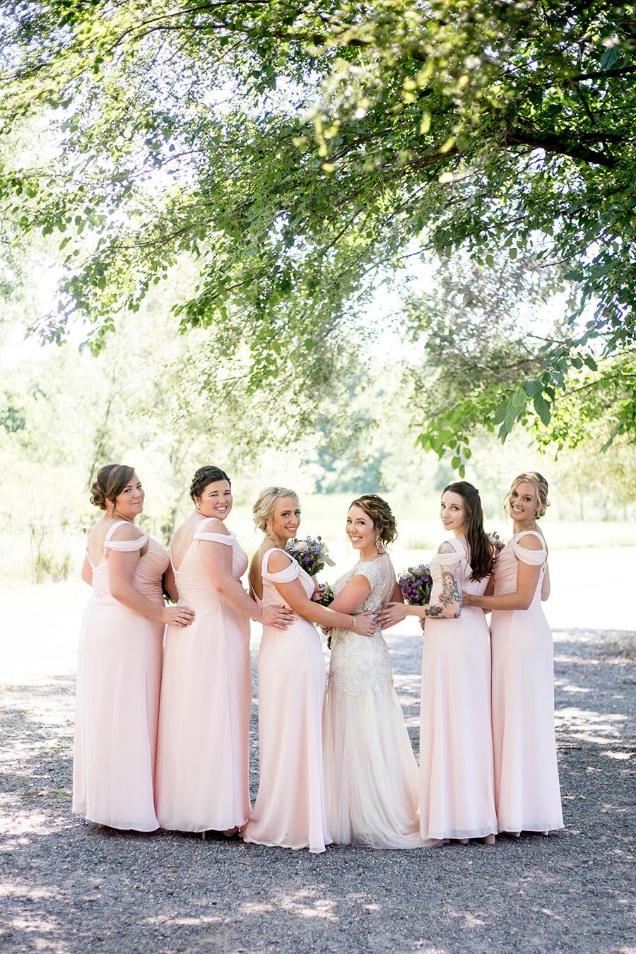 pale pink bridesmaid dresses