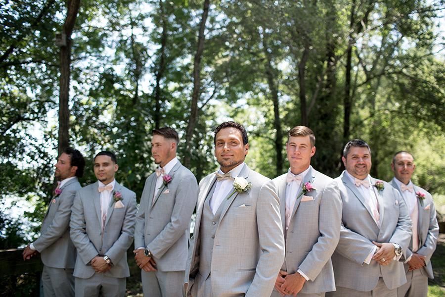 light gray wedding tuxes