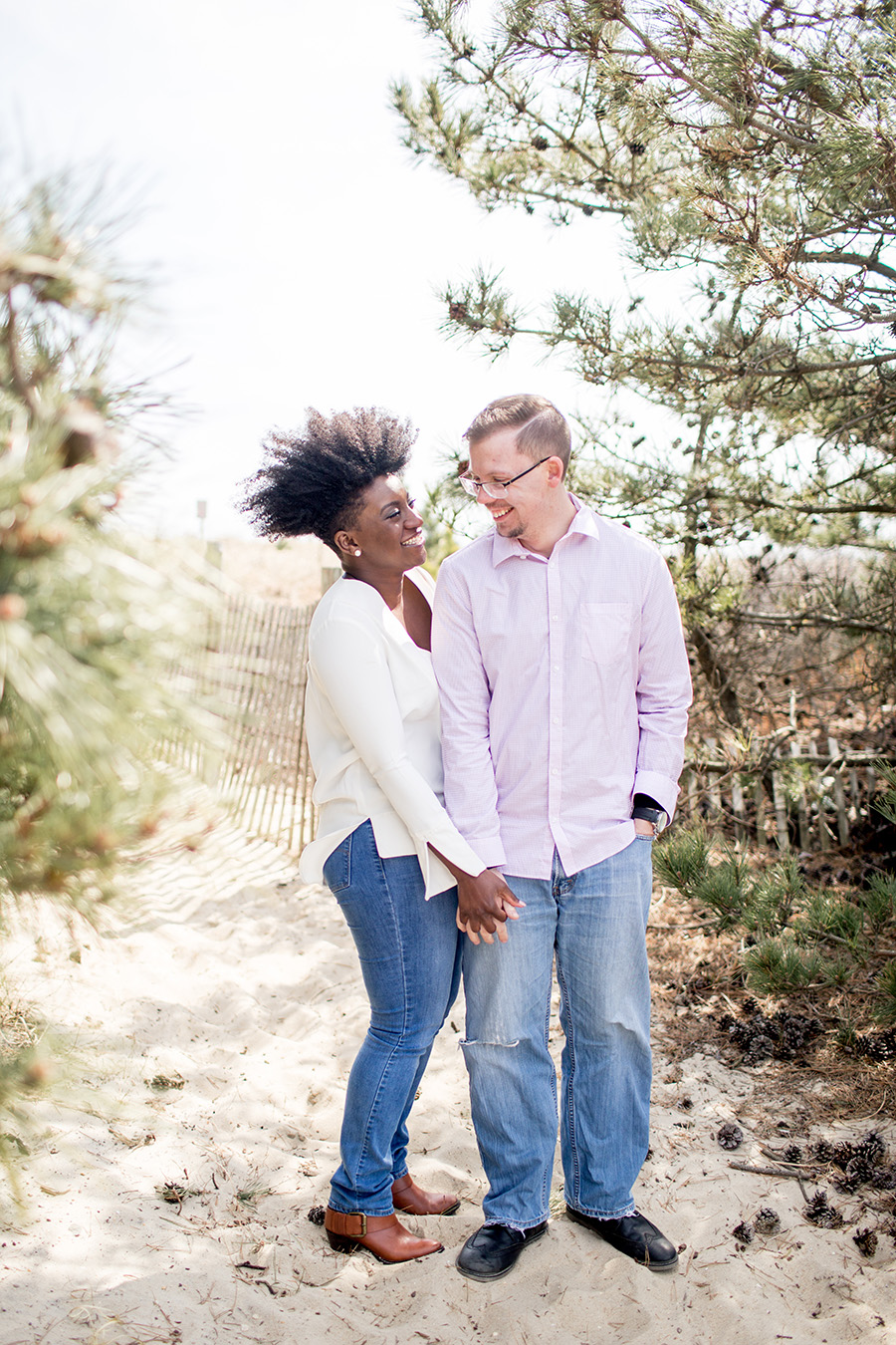 long beach island engagement session