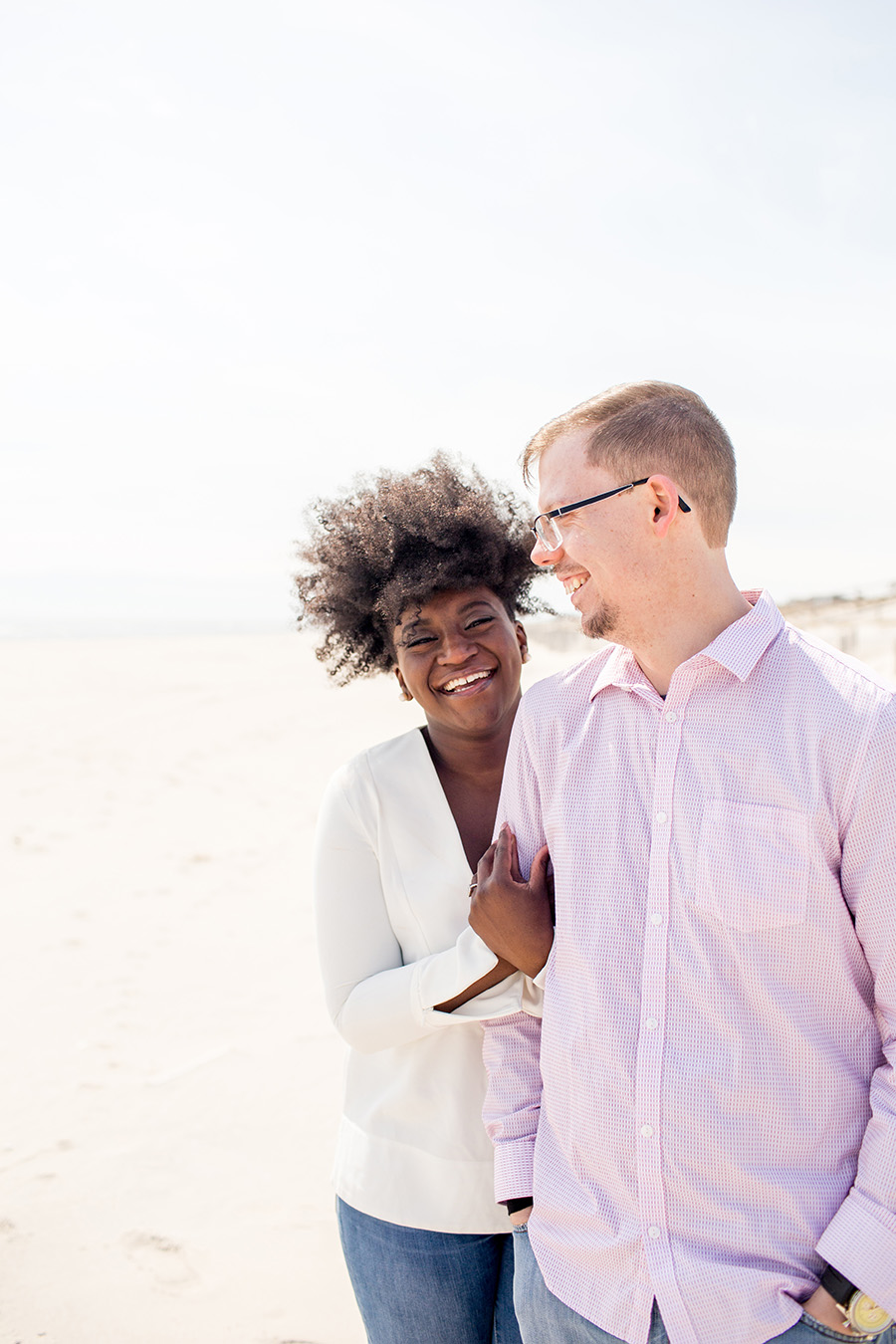 lbi engagement session with sweet couple