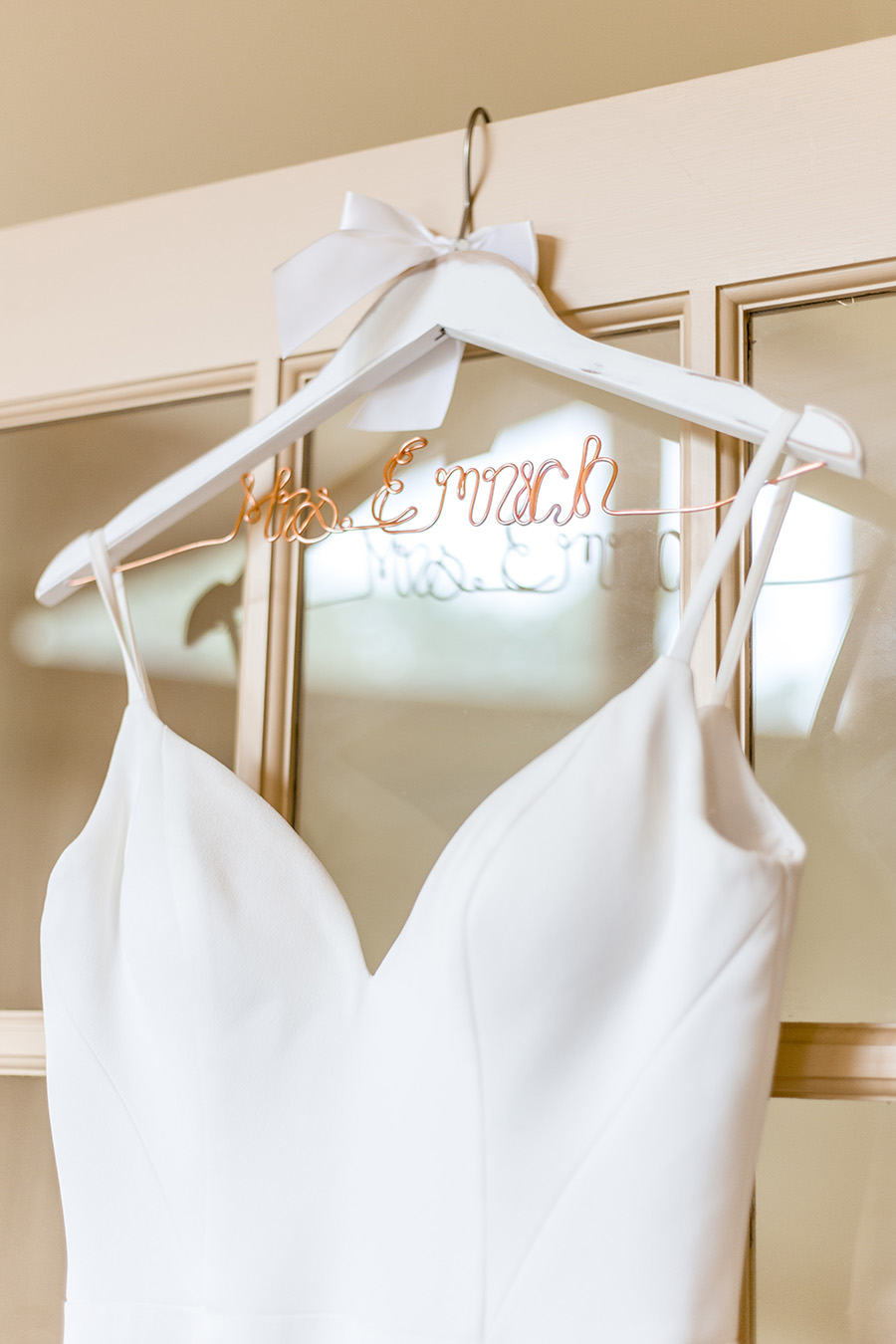 custom wedding dress hanger