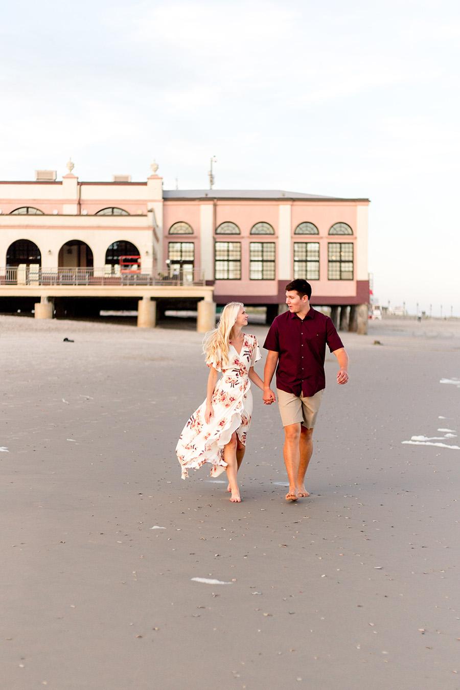 walking near the music pier in ocean city new jersey