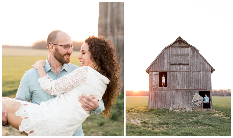couple in the south jersey barn