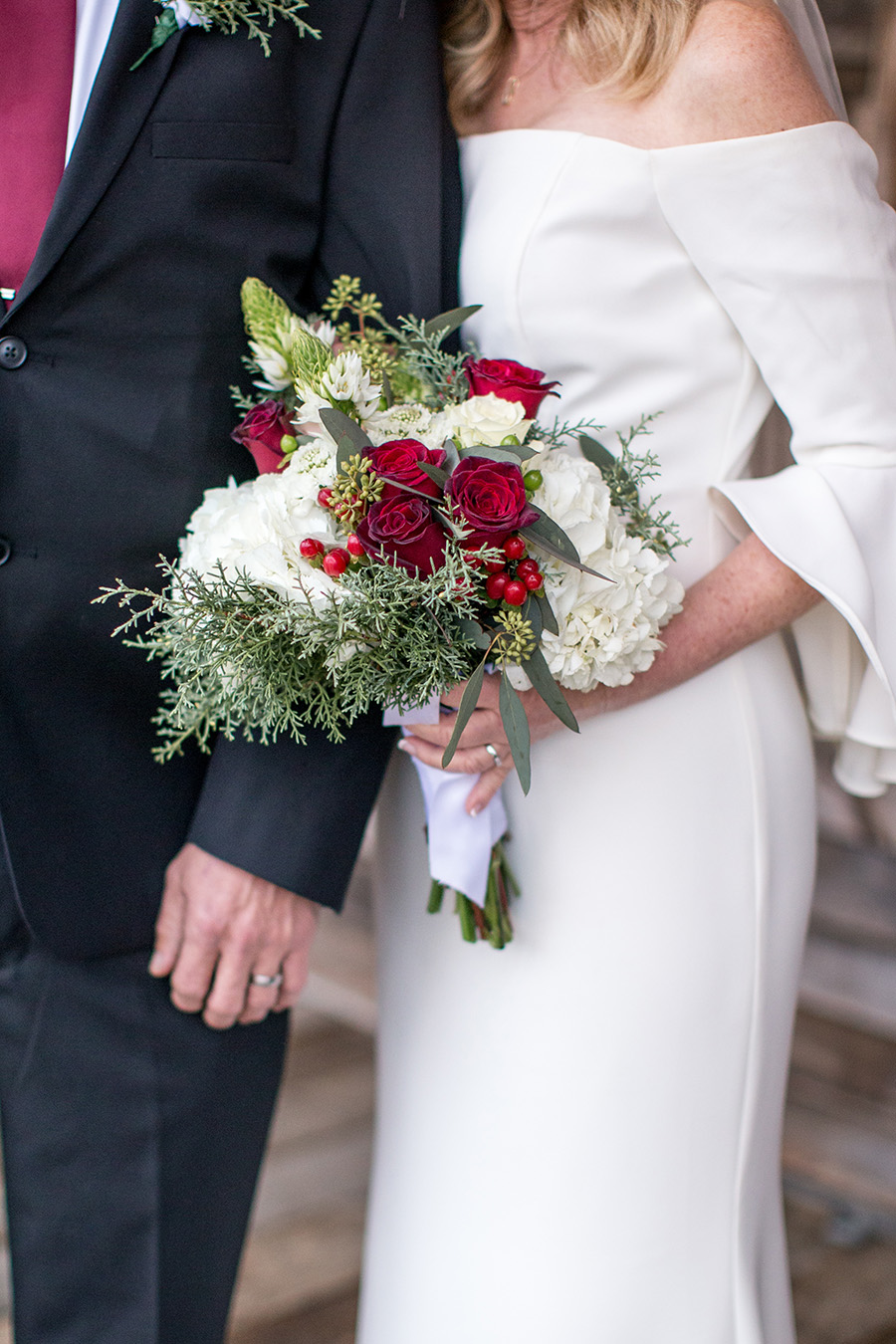 winter wedding bouquet made by the team at terrain styers