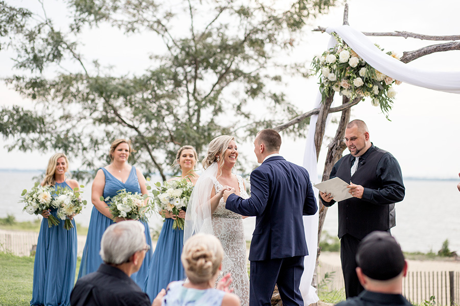 outdoor wedding ceremony at the inn at salem country club