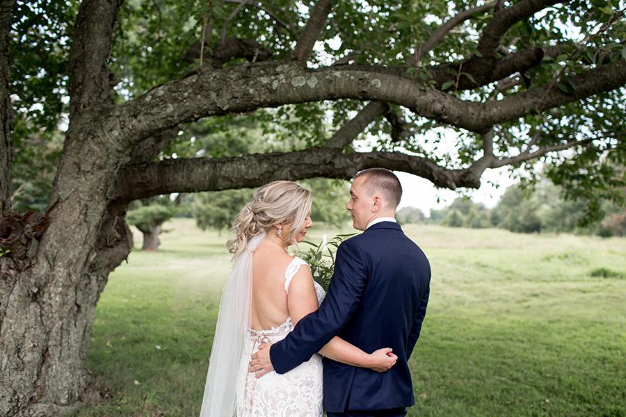 elegant couple before their ceremony