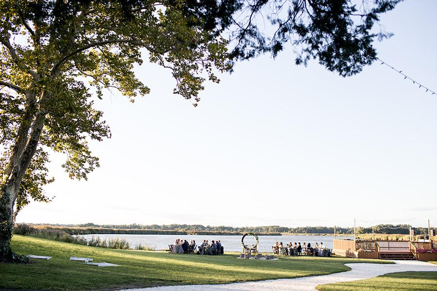 outdoor wedding reception at eagle manor