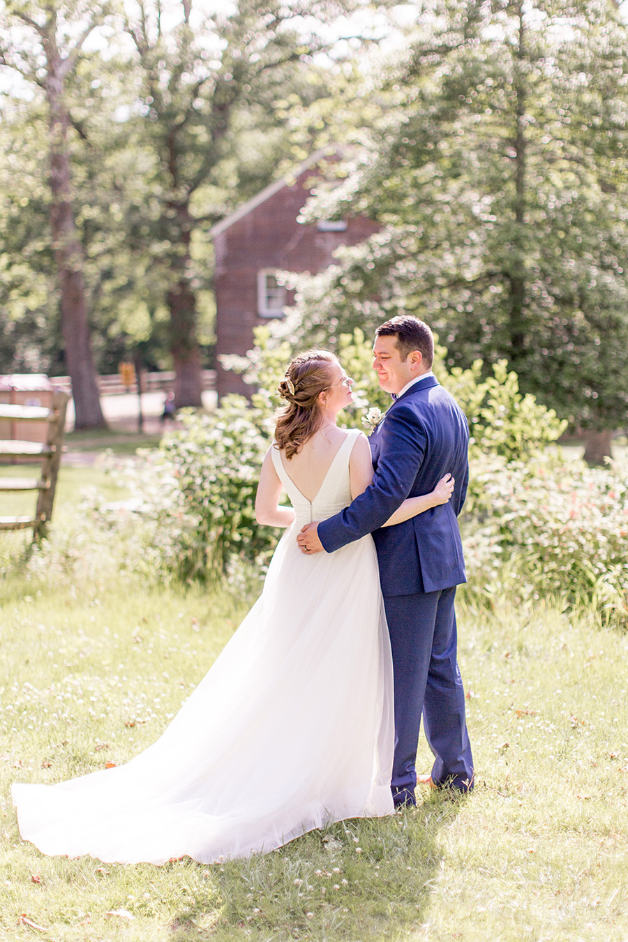 wedding portraits at historic allaire state park