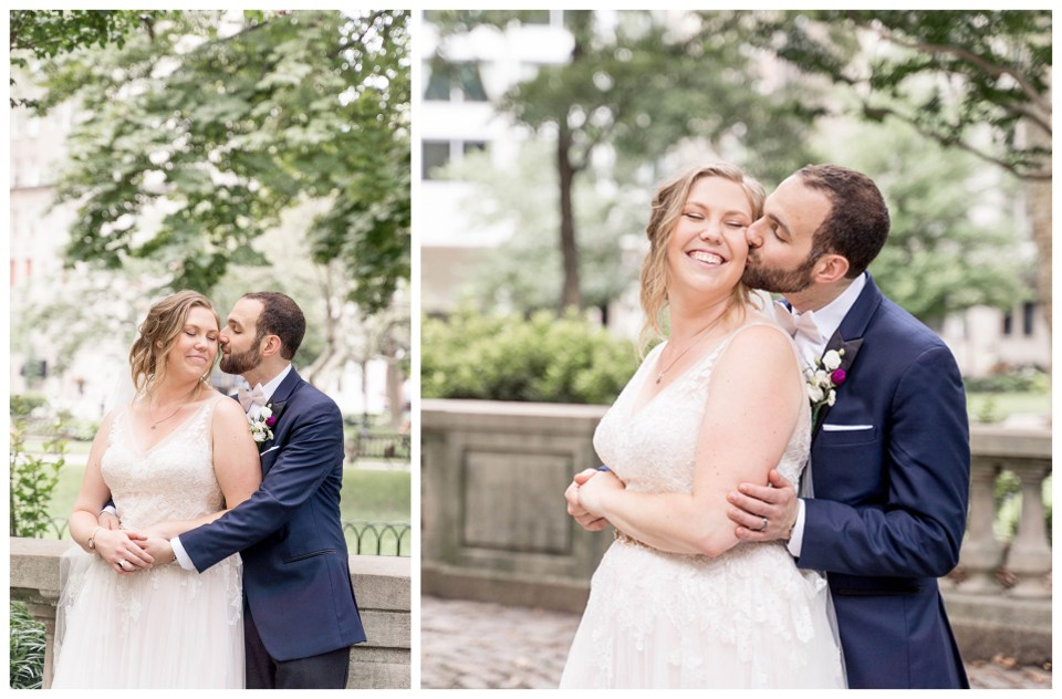 natural light bride and groom portraits