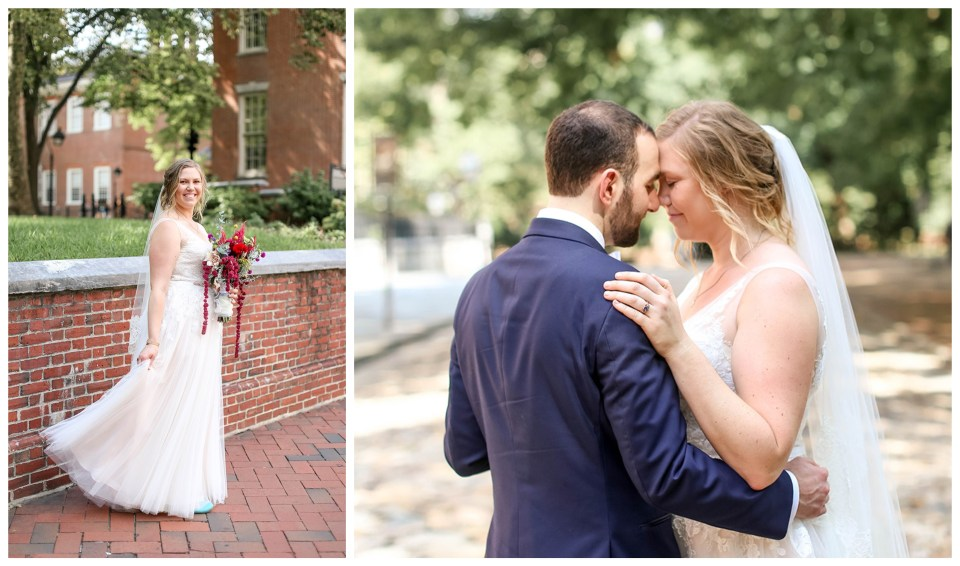 independence hall wedding portraits