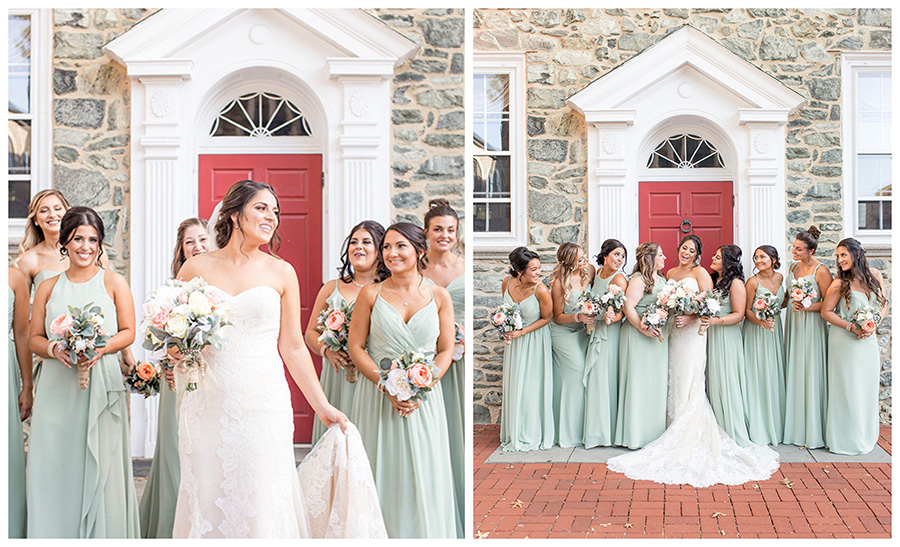 fun bridesmaid pictures in historic west chester near penn oaks
