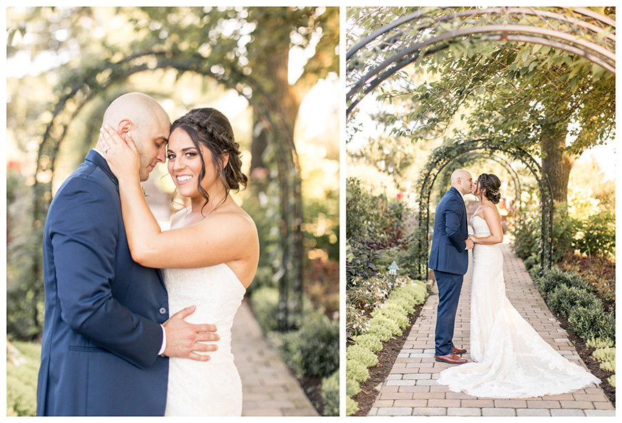 romantic wedding portraits at penn oaks