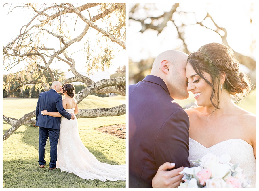 penn oaks oak tree on golf course wedding portraits