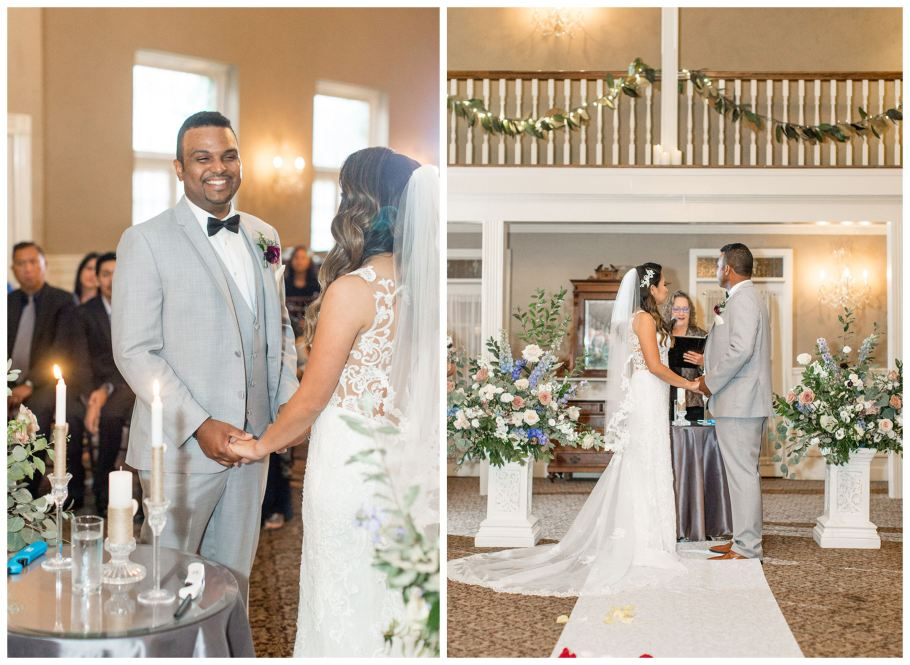 Wedding ceremony at David's Country Inn