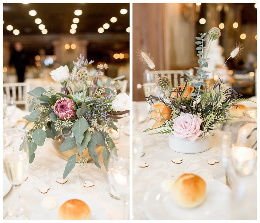 Wild rustic autumn wedding centerpieces