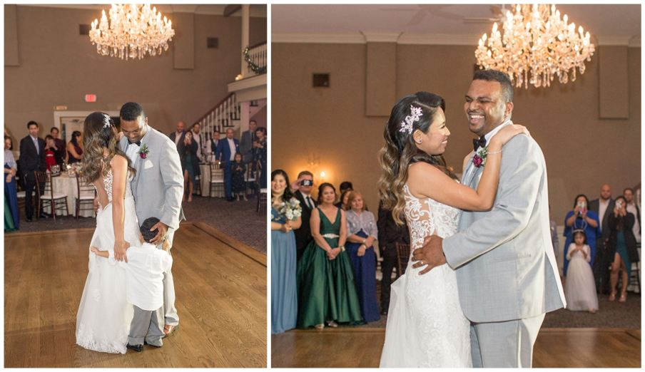 Wedding couple shares first dance with their son