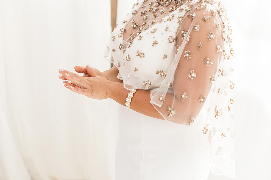Wedding day details at Bast Brothers