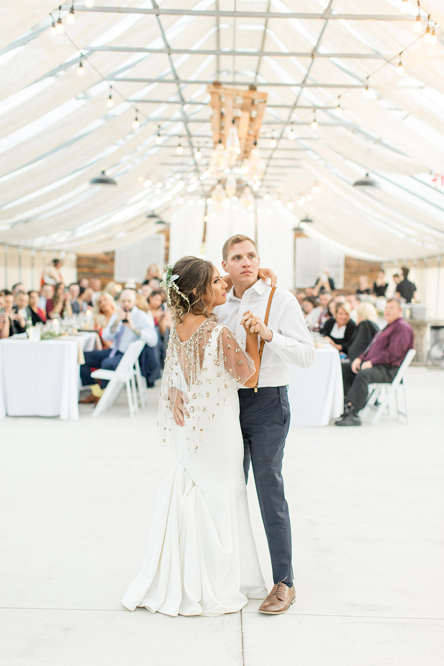 Greenhouse garden wedding reception