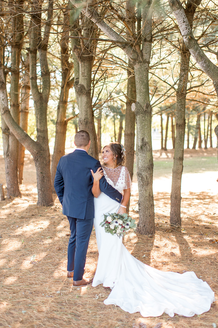 Woodland wedding portraits