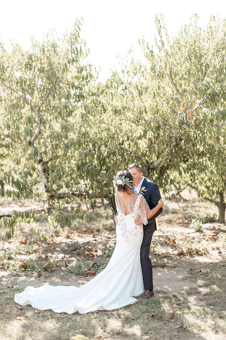 Romantic garden wedding near the apple orchards