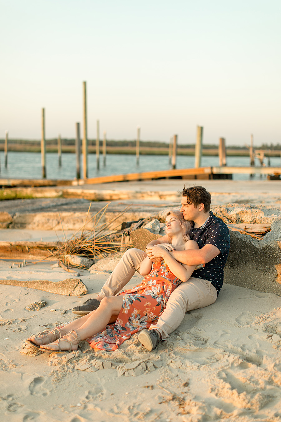 sunset portraits at the jersey shore