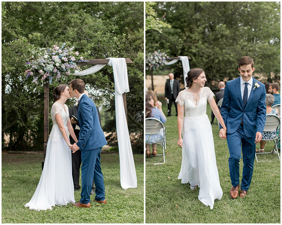walking down the aisle as husband and wife