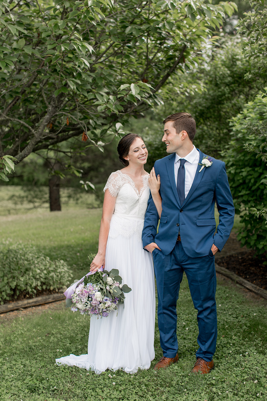 first moments as a married couple wedding portrait