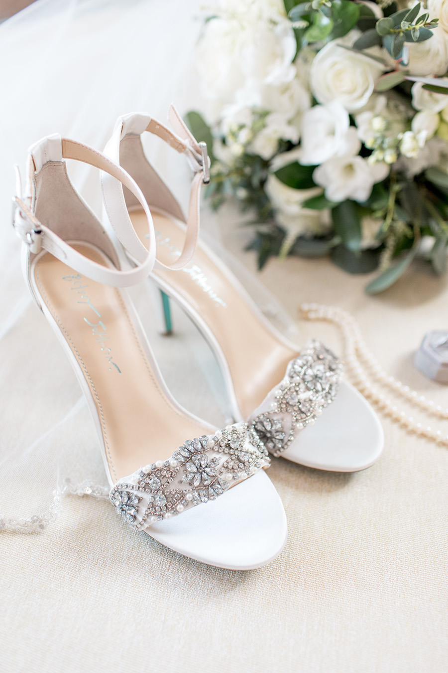 rhinestone wedding heels by Betsy Johnson