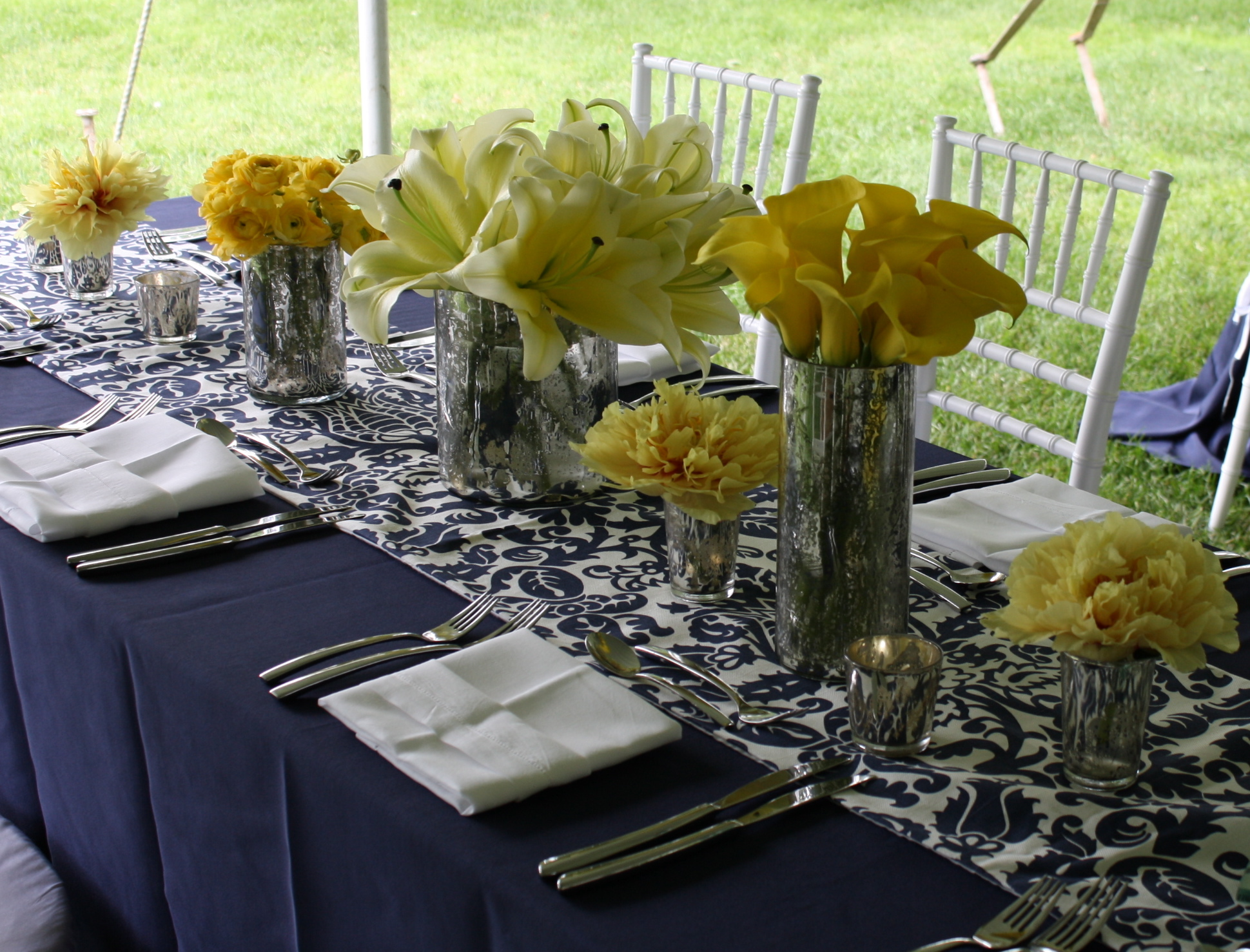 Navy, Yellow, And Silver Gorgeousness