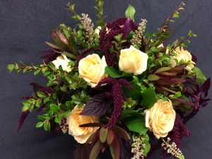 picture of Roses and Amaranth arrangement