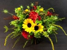 Bold bridal bouquet