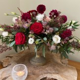 Burgundy & Blush Center Piece 1