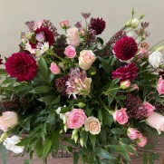 Burgundy and Blush Centre Piece