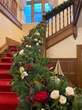 Christmas Wedding Stiarcase