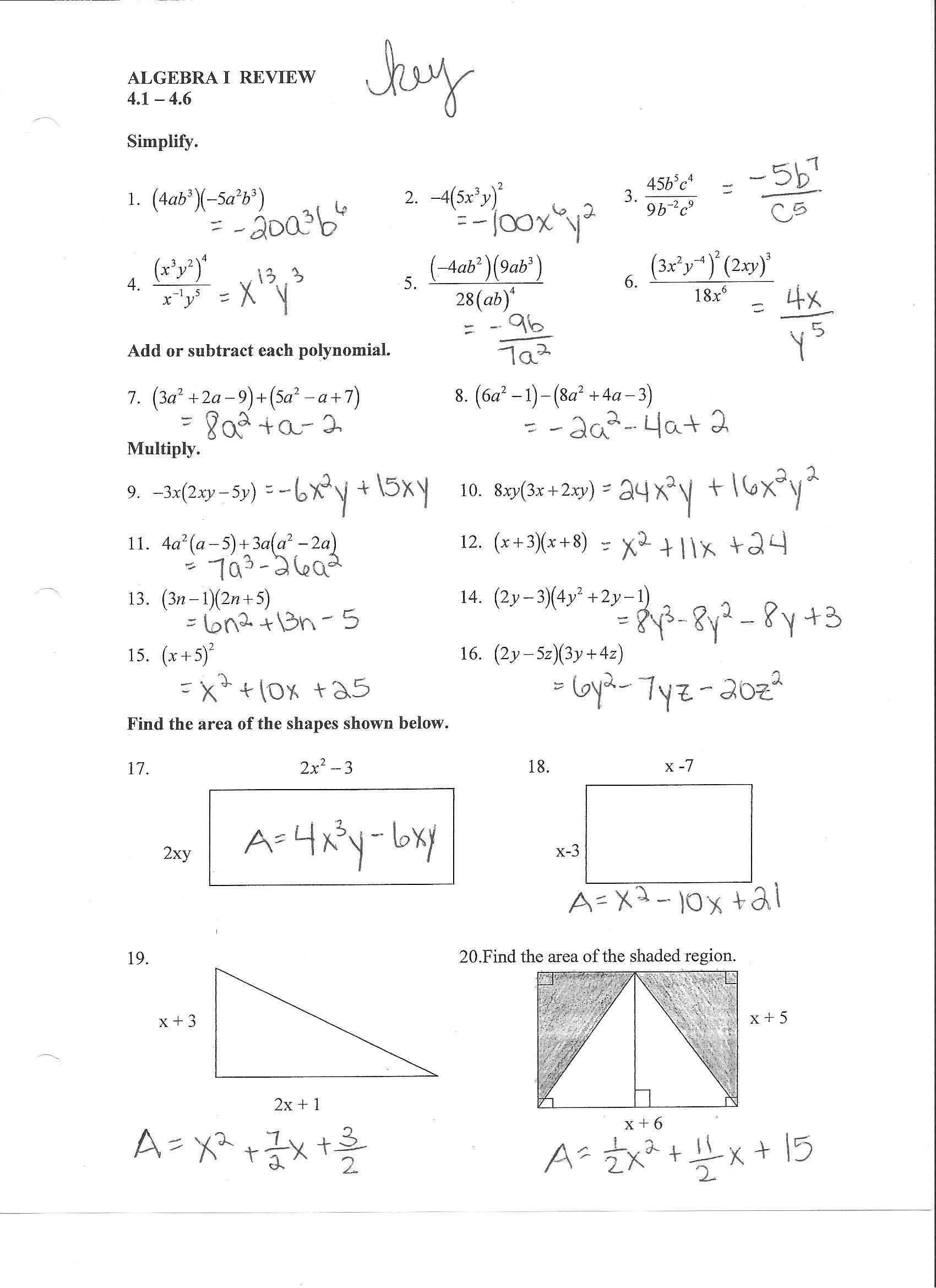Algebra Worksheet New 379 Algebra Worksheet 3 13