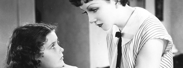 1934 IMITATION OF LIFE: Claudette Colbert is scolding Marilyn Knowlden for a racial slur. (Courtesy of Universal Studios)