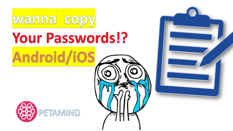 dont copy password